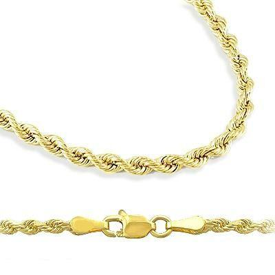 """Showman Jewels Solid 14k Yellow Gold Diamond Cut Rope Chain Necklace 1mm 22"""" inches , Approximately 3.1 grams at Sears.com"""