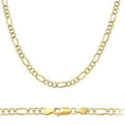 "Showman Jewels SOLID 14kt Yellow and White Gold Figaro Chain 3.2mm 24"" inches , Approximately 9 grams at Sears.com"