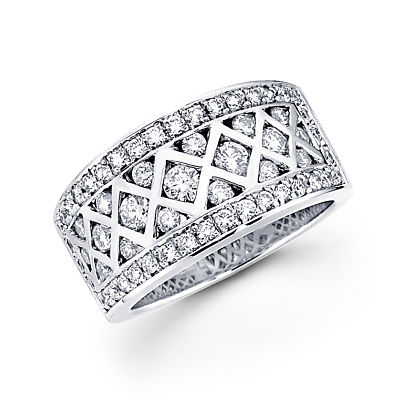Showman Jewels 14k White Gold Round Diamond Anniversary Ring Band 1.24 ct (G-H Color, SI2 Clarity) at Sears.com